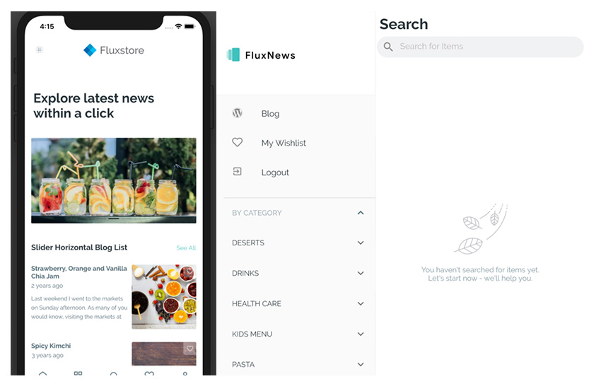 FluxNewsFlutter Mobile App for WordPress