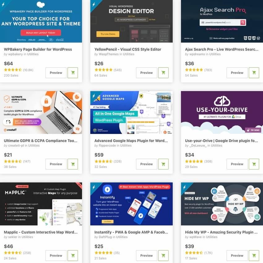 Best selling WordPress Utilities