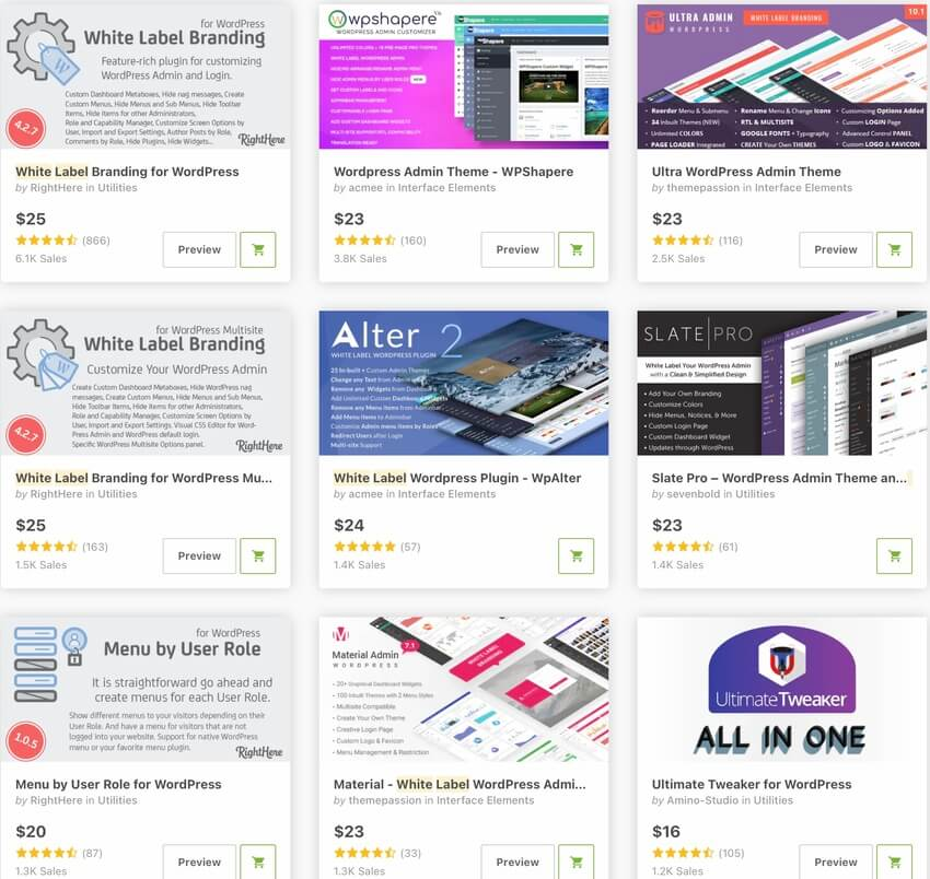bestselling white-labeling WordPress plugins for 2020
