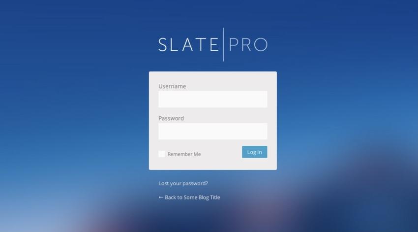 Slate Pro - WordPress Admin Theme and White Label