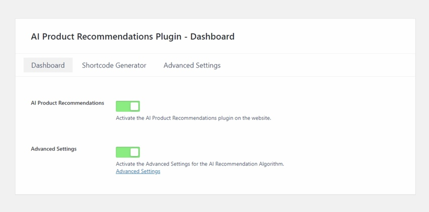 AI Product Recommendation for WooCommerce