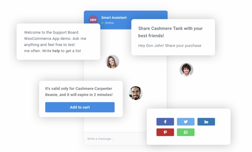 WooCommerce Chat Bot & Marketing App for Support Board