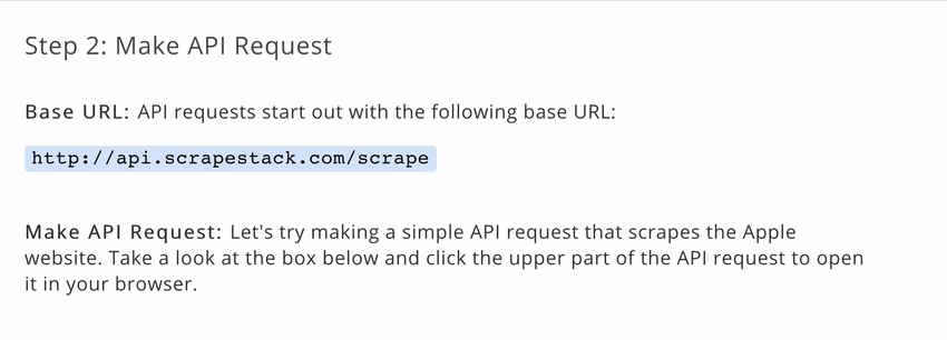 Make API request