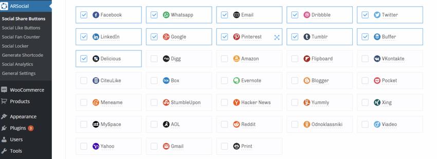 ARSocial - Social Share Buttons & Social Locker Plugin