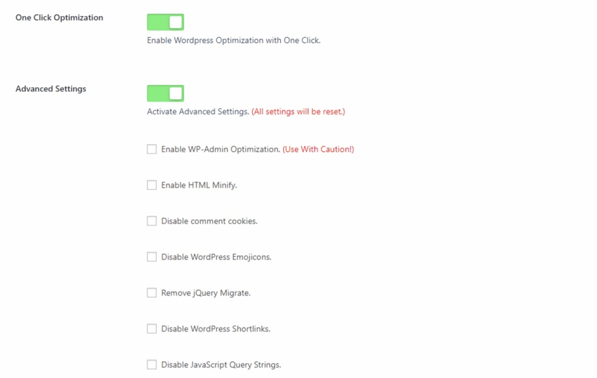 one-click-optimization-wordpress-speed-optimization plugin
