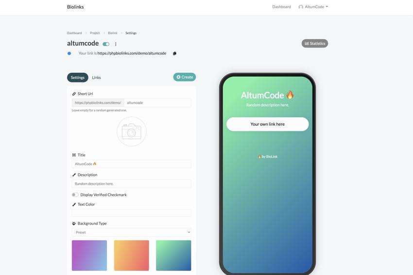BioLinks - Instagram & TikTok Bio Links & URL Shortener