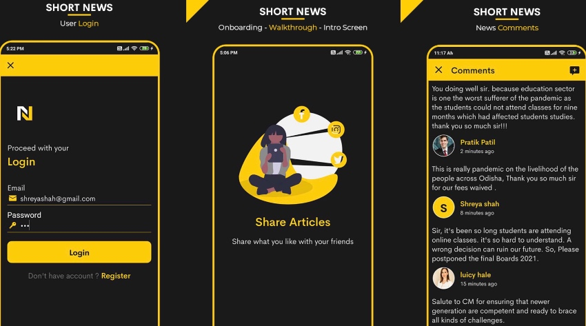 Short News Android App with PHP Backend