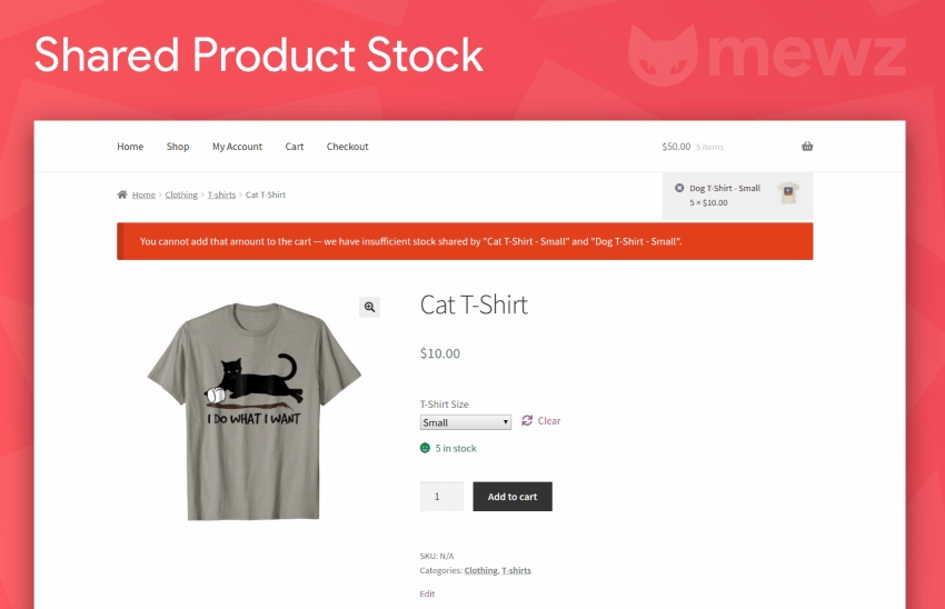 WooCommerce Attribute Stock – Share Stock Between Products