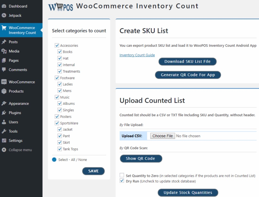 WooCommerce POS Inventory Count