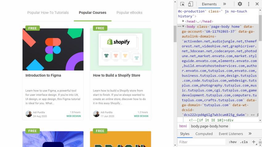 Open Chrome DevTools