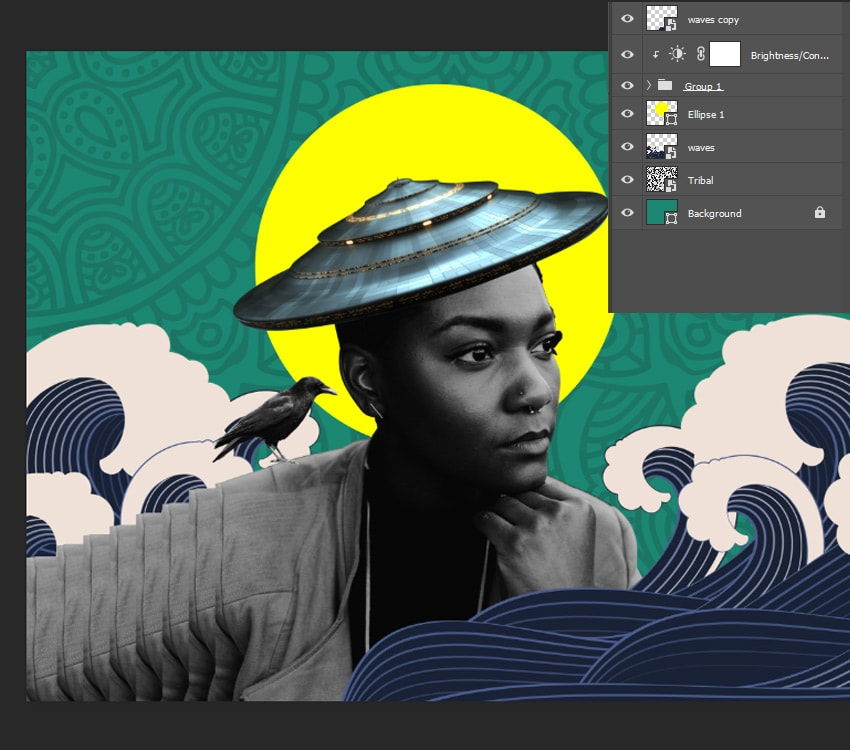 Adding tribal patterns in the background