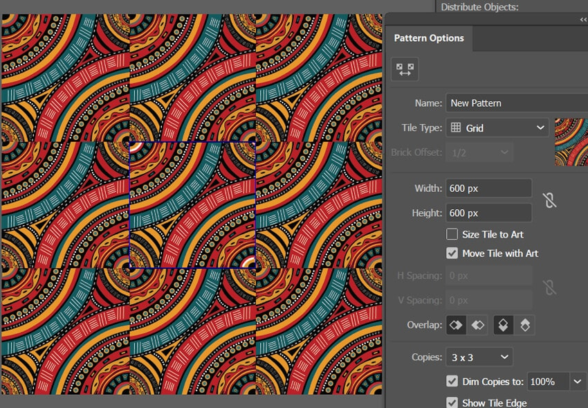Showing how to create a seamless pattern