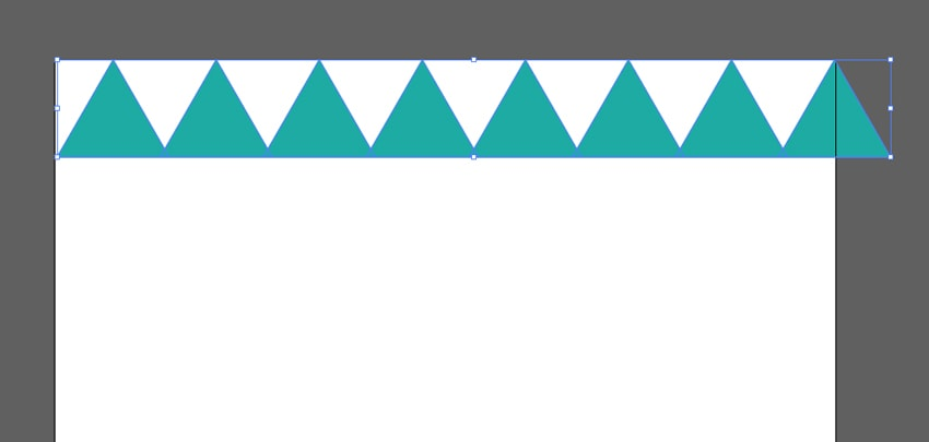 Duplicating the triangle multiple times