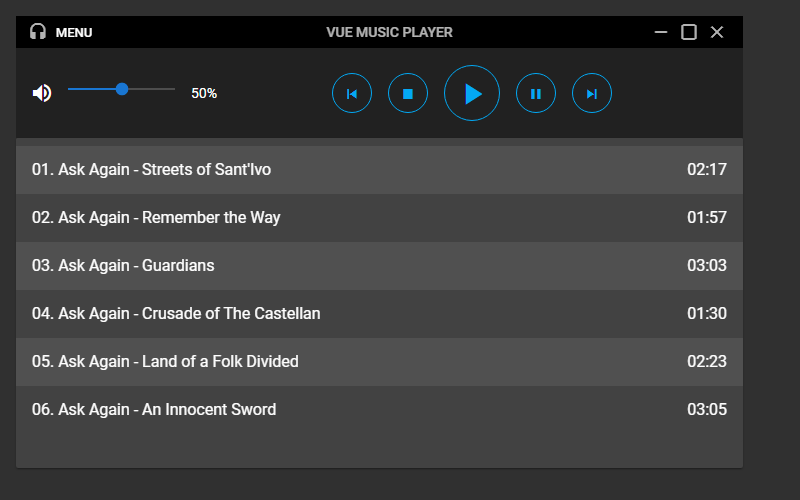 Build a Music Player With Vuetify