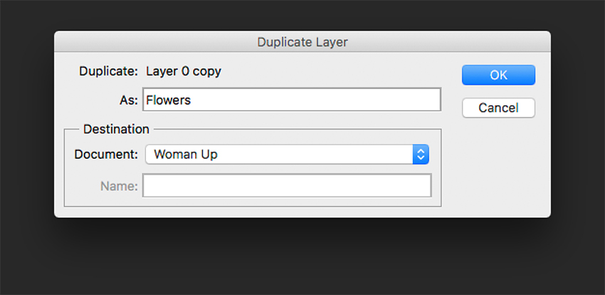 Duplicate flower layer