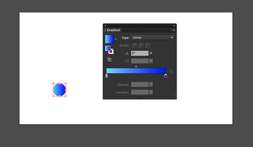 Change the gradient to a blue color