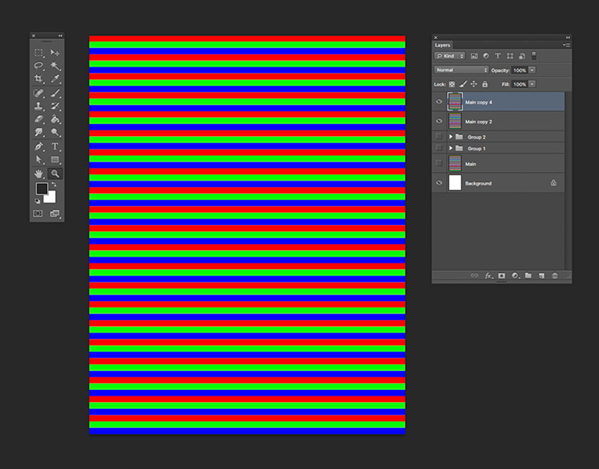 Duplicate the horizontal lines