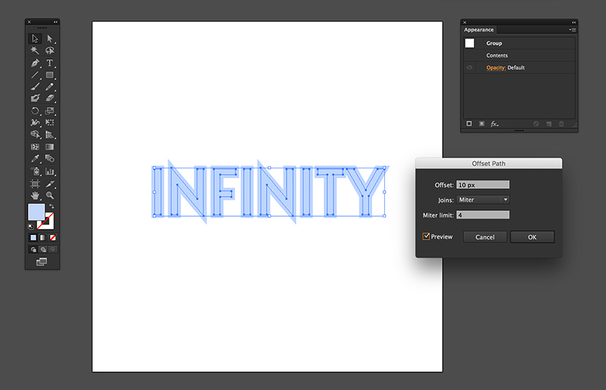 How to Create a Quick Repetitive Text Effect Illusion in Adobe Illustrator