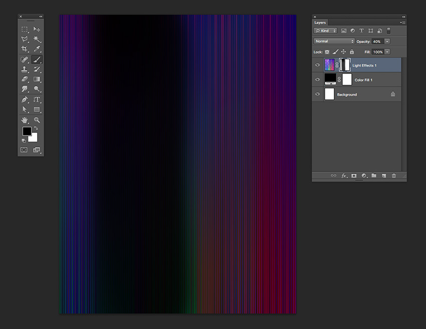 Add a layer mask to the light effect layer