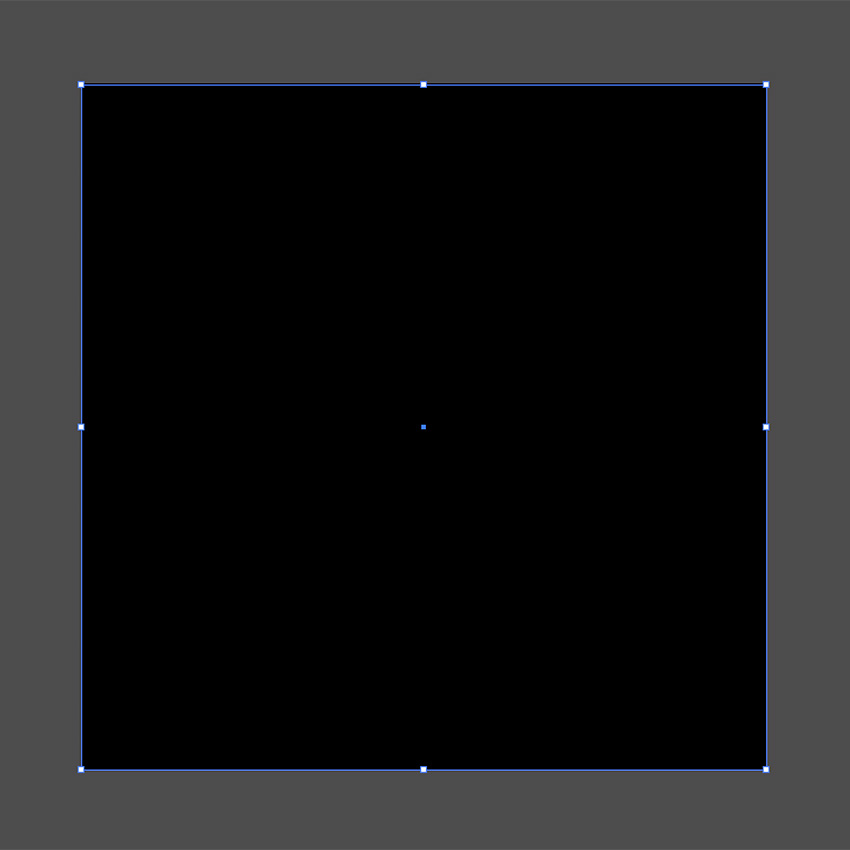 Create a black square shape to cover the artboard