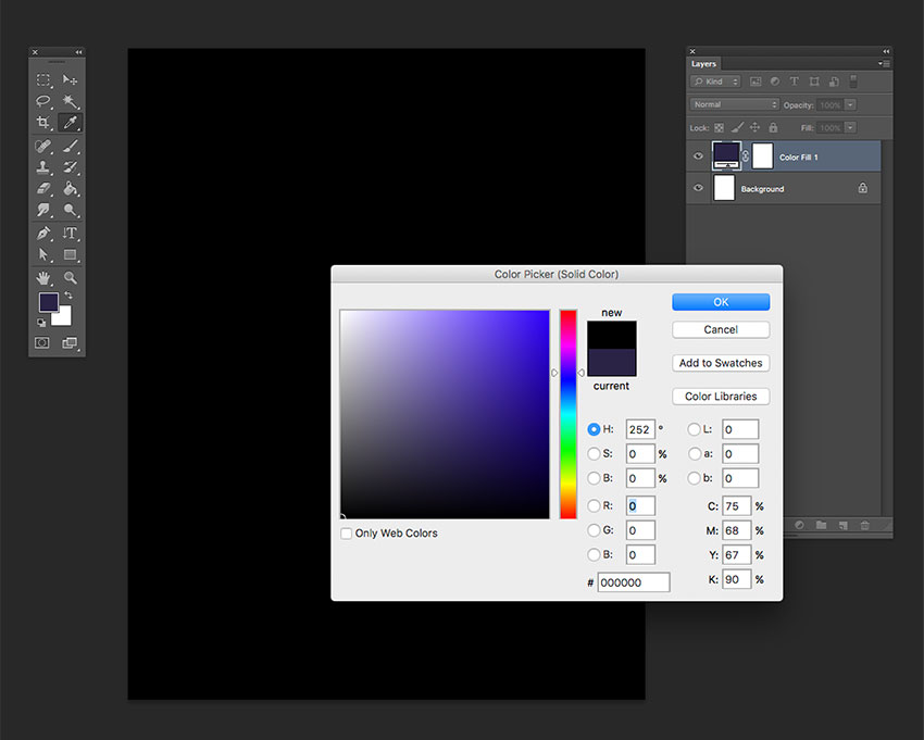 Create a new Fill with a black color