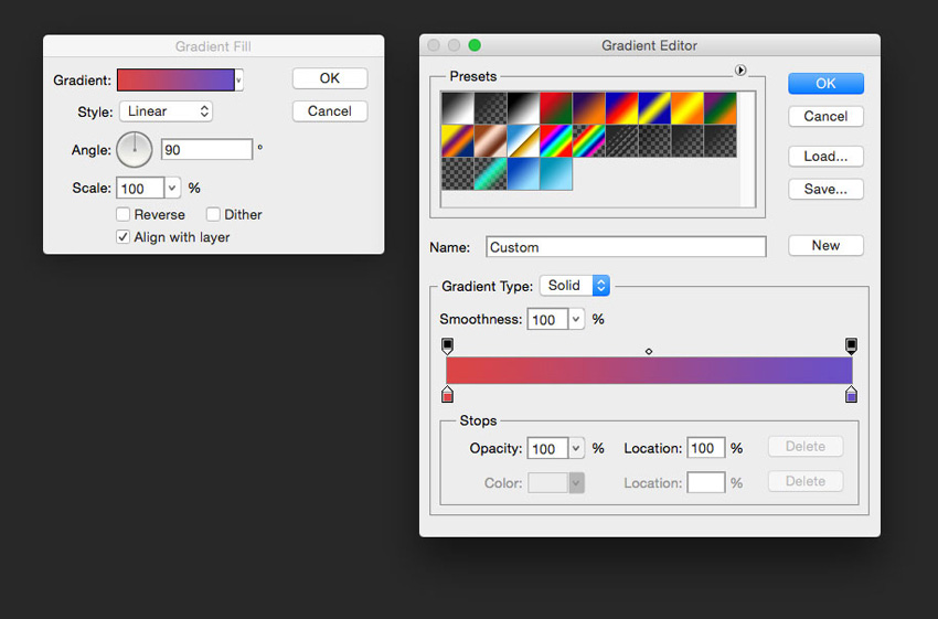 Create a new gradient layer