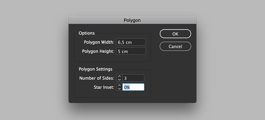 Create a Triangle using the Polygon Tool