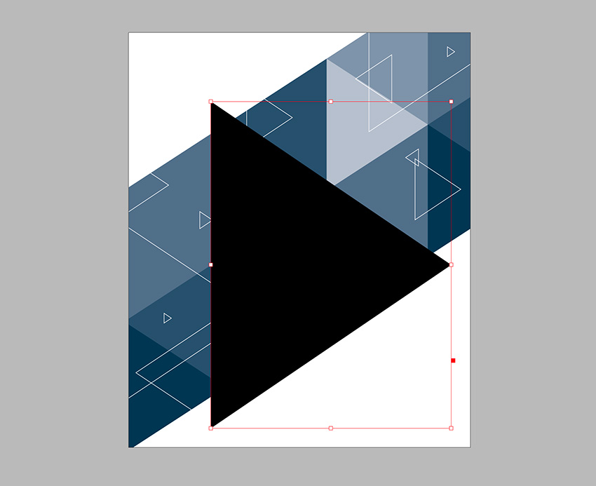 Lock the triangles 2 layer and work on the ImageLogo layer Create a new triangle