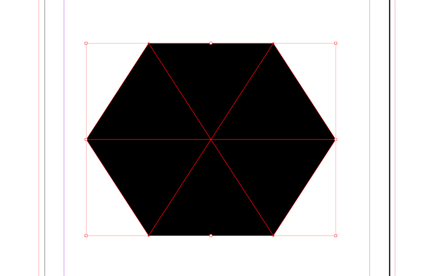 Create a hexagon using the triangles