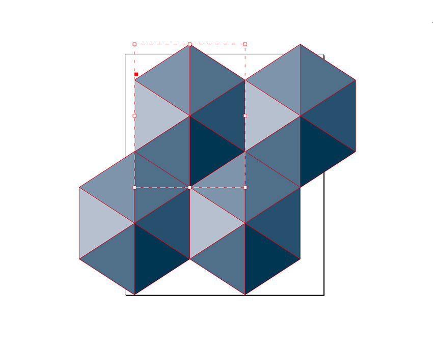 Rotate the hexagon and multiply to create a pattern