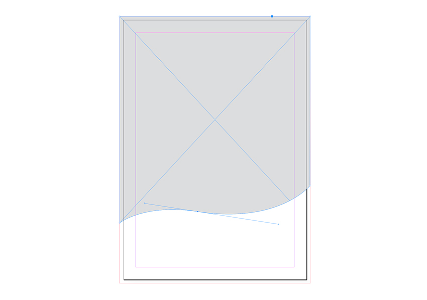 Use the pen tool to create a rectangle with a curved bottom