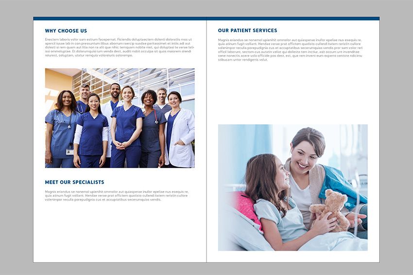 Place images inside the brochure