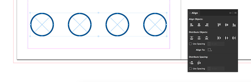 Duplicate the circle 3 times to have a total of 4 circles