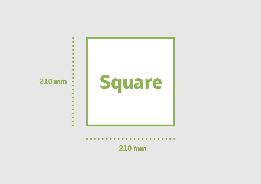 Square 210 x 210 mm