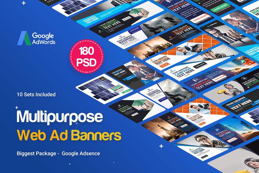 Multipurpose banners ad