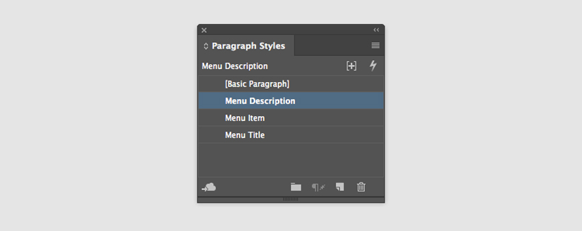 add three paragraph styles for the different formats