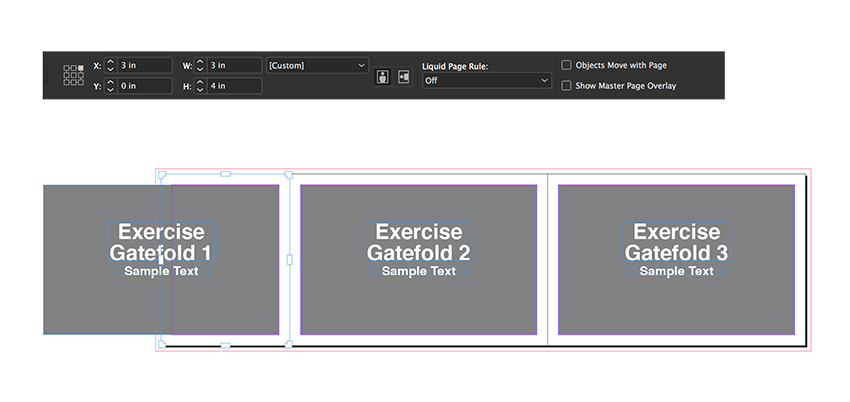 select the gatefold 1 page and resize the width