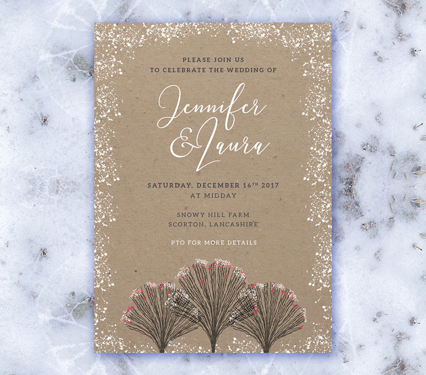 How to Create an Invite for a Winter Wedding in Adobe InDesign