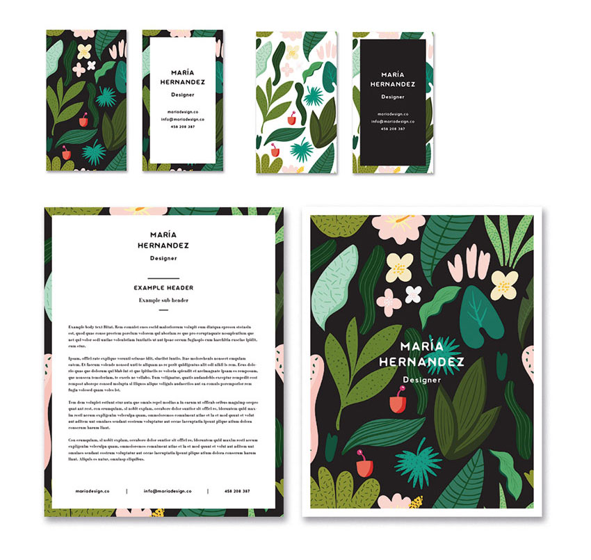 How to Create a Tropical Stationery Set in Adobe InDesign