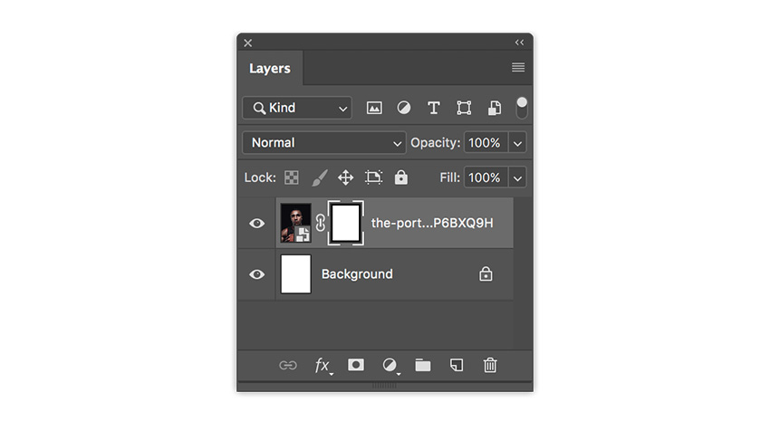 create a layer mask with the selection