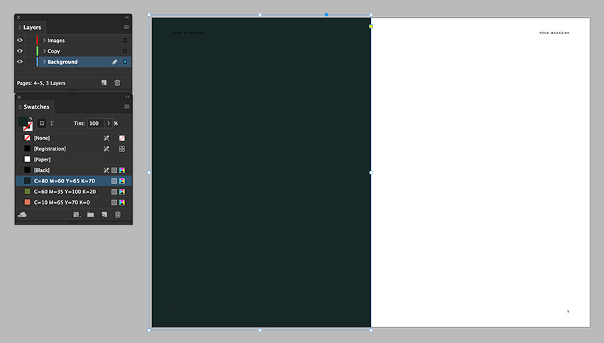 using the rectangle tool add a background