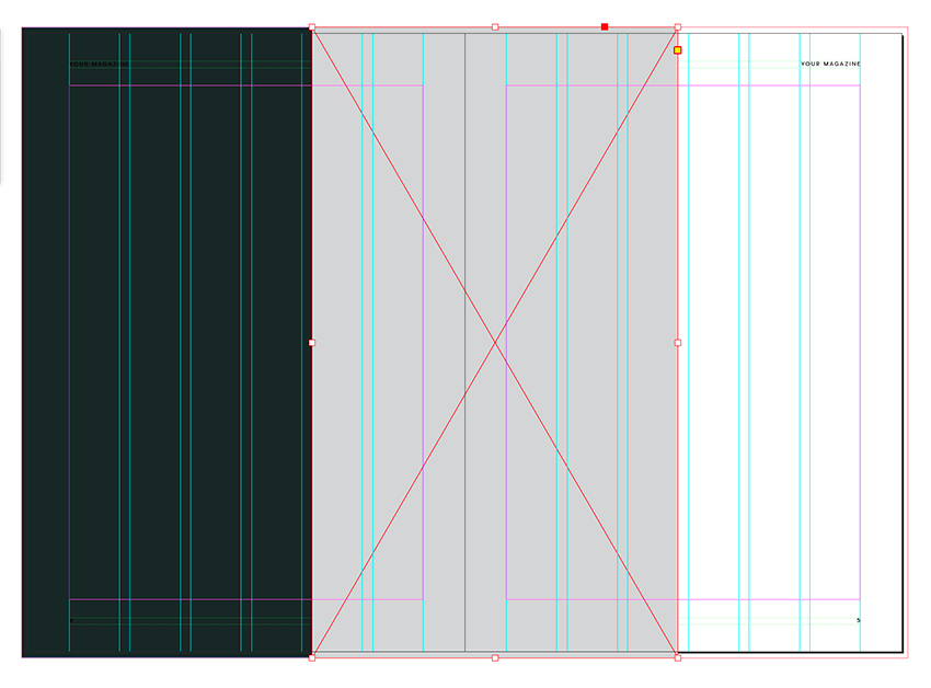 create a rectangle between the two pages
