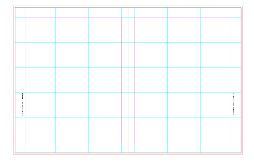 place the folios on the outside margins of the spread