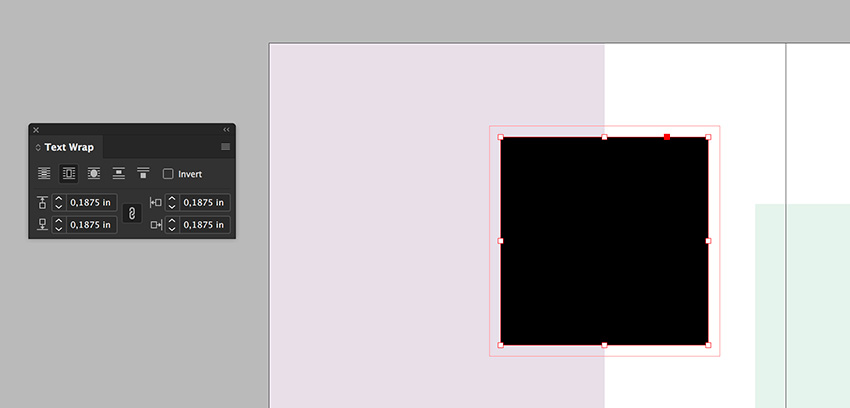 create a rectangle and use the text wrap panel