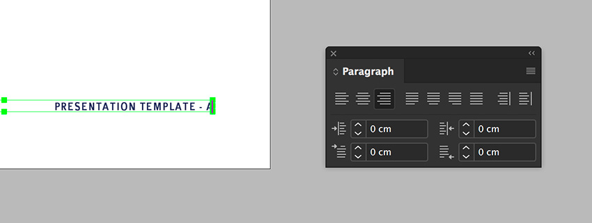 duplicate the folio and place on the right side of the spread