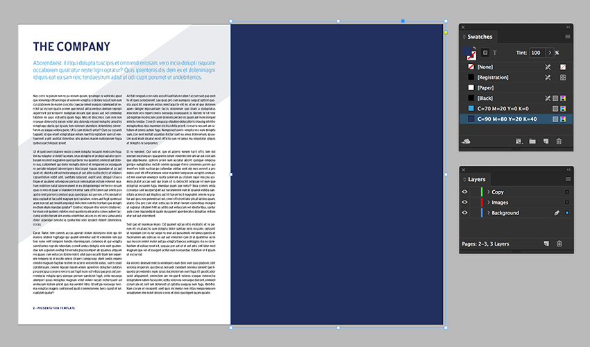 create a rectangle to cover the right page