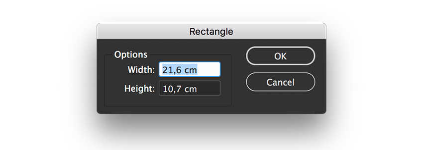 create a rectangle and place it atop the page