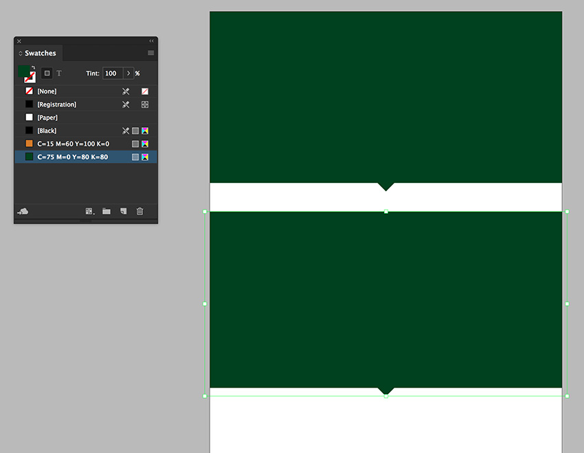 set the color to green and duplicate the shape