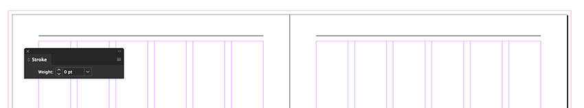duplicate the stroke at the top of both pages