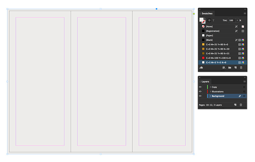 add a background using the rectangle tool